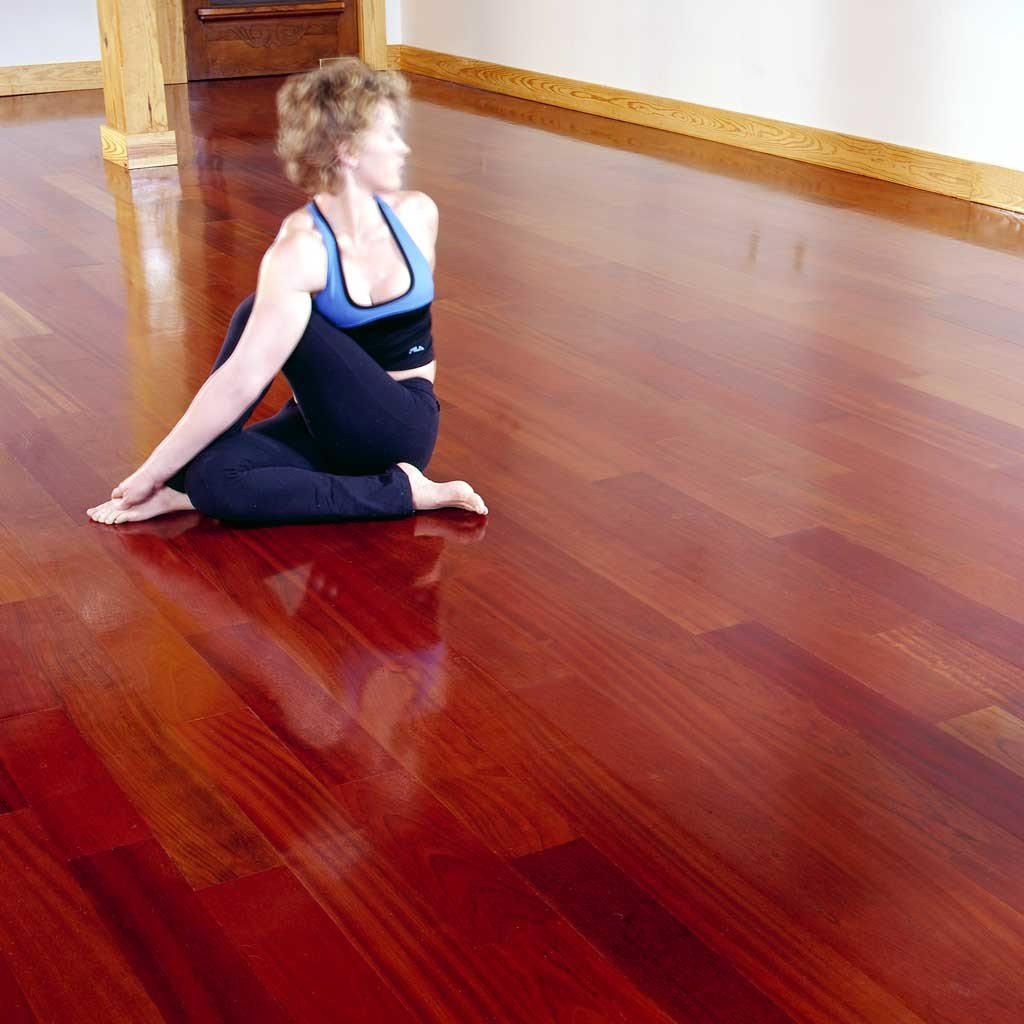 brazilian cherry yoga studio flooring exotic wood image